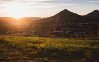 San Luis Obispo at sunset -- health insurance trails article