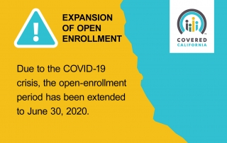 Covered California COVID-19 open-enrollment expansion announcement Mar 2020